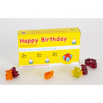 Happy Birthday-Gummibärchen